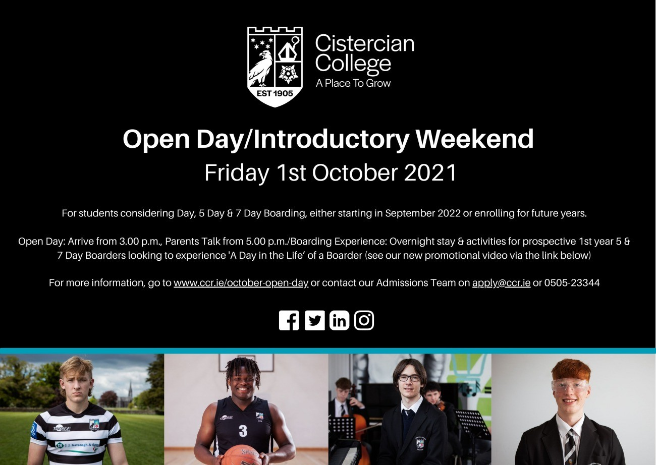 Register now for the October Open Day & Overnight Experience